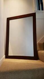 Bespoke made bevelled mirror