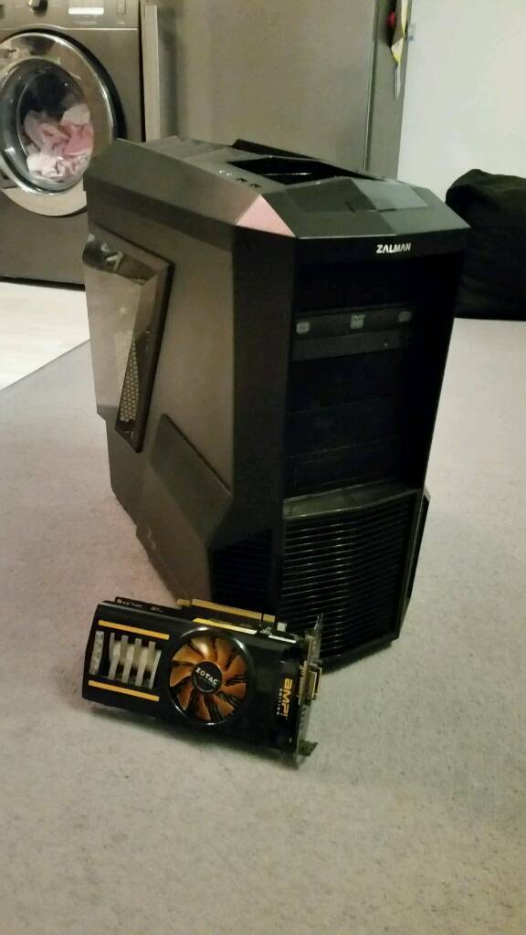 Gaming pc case with graphic card gtx 460