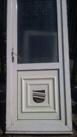 upvc cat friendley door ideal for cat lovers /. Bottom pannel ready for cat flap 34x79 fits all gaps