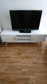 TV unit white Scandinavian style (TV not included)
