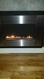 Focal Point designer plasma flueless gas fire - excellent condition
