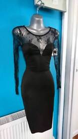 New kim kardashian dress size s black bodycon wedding evening party