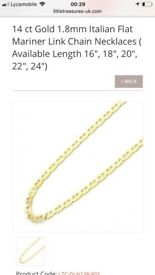 Chain for women 14kt 18inch.. is brand new.