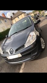 Dark grey Renault clio