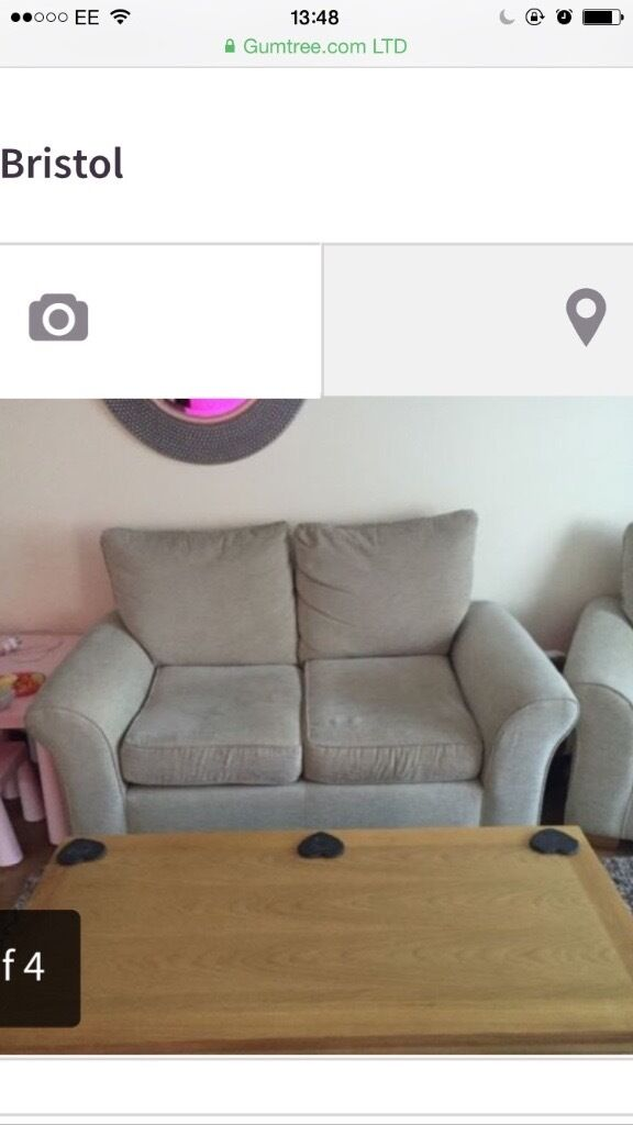 Excellent condition NEXT cream sofa