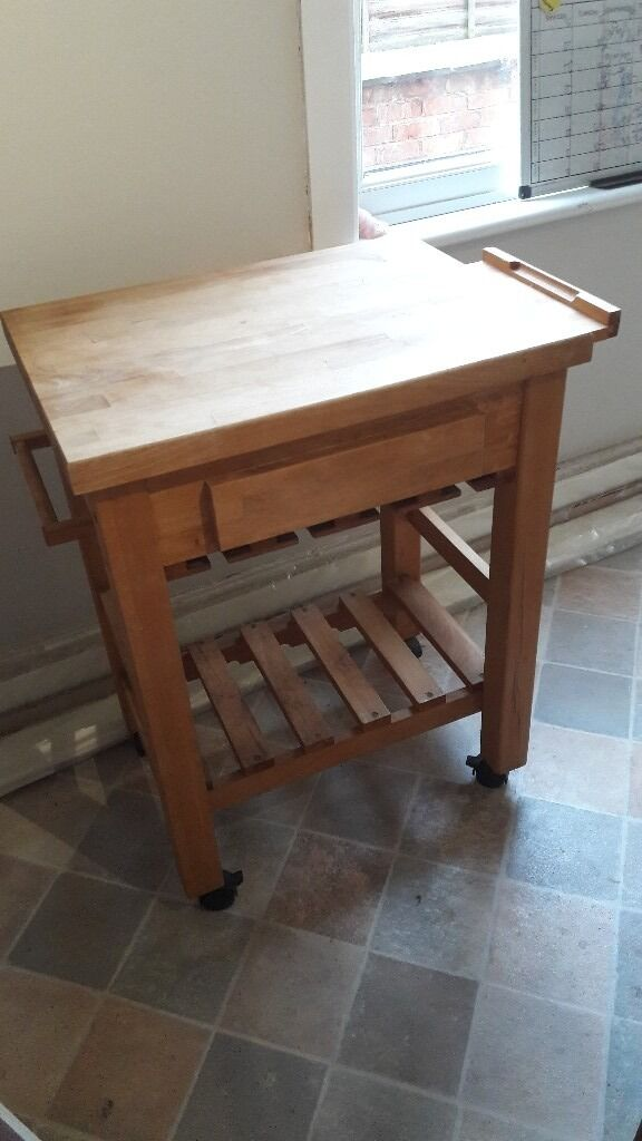 Wooden butcher's block/ kitchen trolley