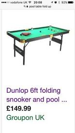 Wanted pool, snooker table