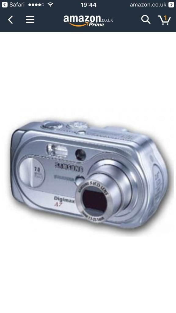 Samsung digimax A7 digital camera