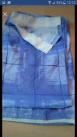 """Purple cross design cotton curtains 64""""width 56"""" drop"""