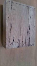 Turning blank craft work spalted beech hardwood timber seasoned. (f55)
