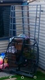 Vauxhall combo roof rack and rear cage for sale. Rack is HUGE! Very useful and cahe is factory spec