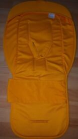 Bugaboo seat liner. Yellow
