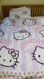 Hello Kitty single duvet/quilt cover. From a smoke free and pet free home. Collection only