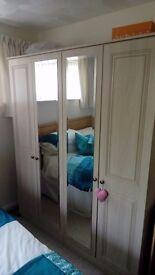 Double mirror wardrobes