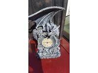 Dragon clock, great detail, unique clock, excellent condition and buy.
