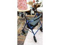 Aluminium Folding 4 Wheel Mobility Walker / Zimmer Frame by Drive Medical
