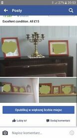 Pine photo frames