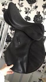 Black Thorowgood saddle