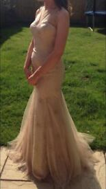 Prom dress size 8 approximately in gold