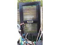 upvc double glazing doors good condition with frame and keys