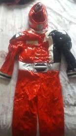 Disney red Power Ranger SPD costume XS