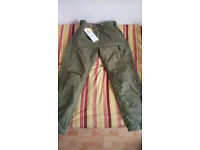 BARGAIN Resurgence Gear Cruiser Cargo 38 Waist 32 Leg Mens Motorcycle Trousers Green PEKEV