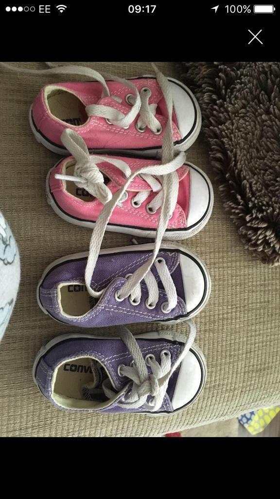 Girls size 3 converse