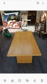 Pine veneer dining table