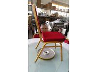 Arched Back Banqueting Chairs (Red)