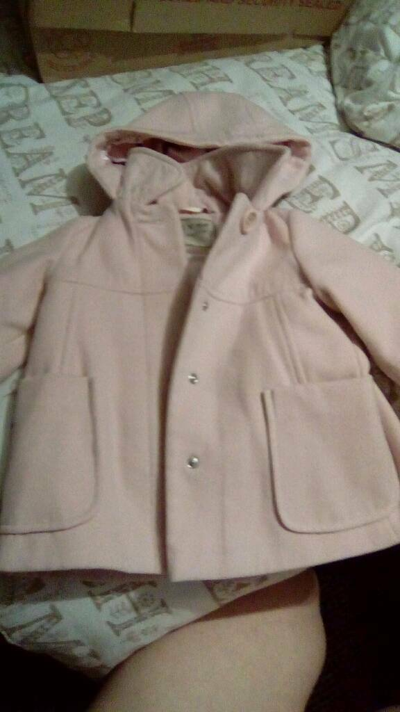 Girls pink coat from next x