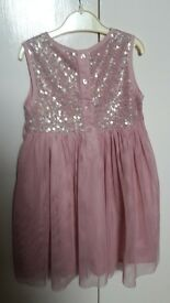 pink monsoon dress size 18 to 24 months