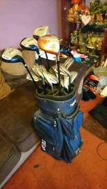 Adult and child's golf clubs