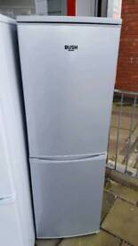 New graded Bush 50cm silver fridge freezer with 12 months guarantee