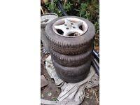 13 inch car wheel tyres alloys x4 165/65R 13 Bargain