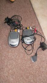 wireless tv audio video sender receiver, transmit programmes to other room