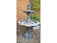 Large stone water garden fountain