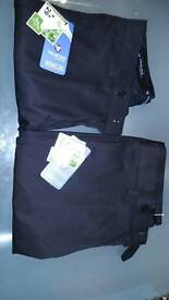 2 pairs of BNWT Boys skinny leg black trousers