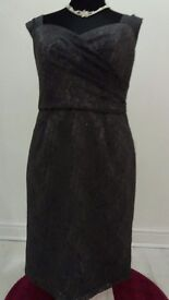 charcoal grey party dress