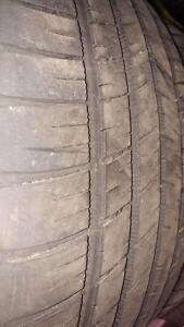 4 pneus d'été 245/45/19 Michelin Pilot Sport AS3, 50% d'usure, 5-6/32 de mesure.