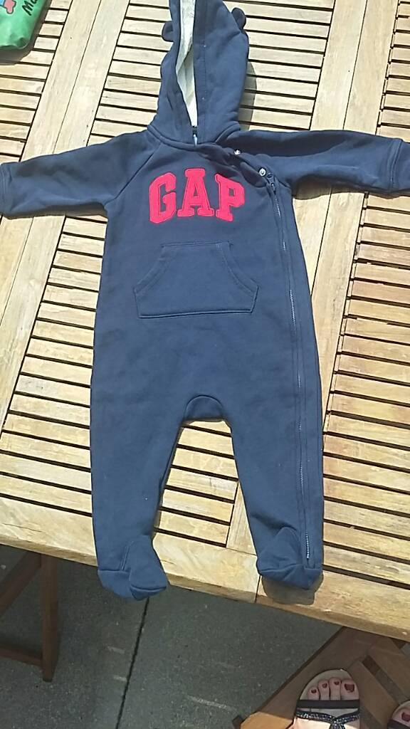 Baby Gap all in one suit navy 9-12 months