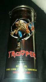 Iron maiden beer tin