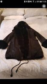 Black fur lined parker