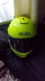 HJC Helmet Florescent Yellow