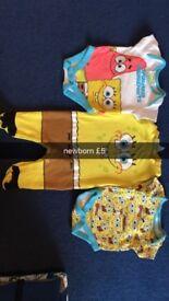 spongebob 3 piece set newborn