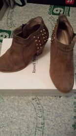 Russell and Bromley suede ankle boots