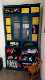 Dresser, display cabinet, book shelf, recycled, vintage style