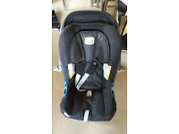 Rear facing Britax car seat 0-13kg with isofix
