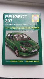 Haynes Peugeot 307 Service & Repair Workshop Manual. 2001-2004. Petrol & Diesel.