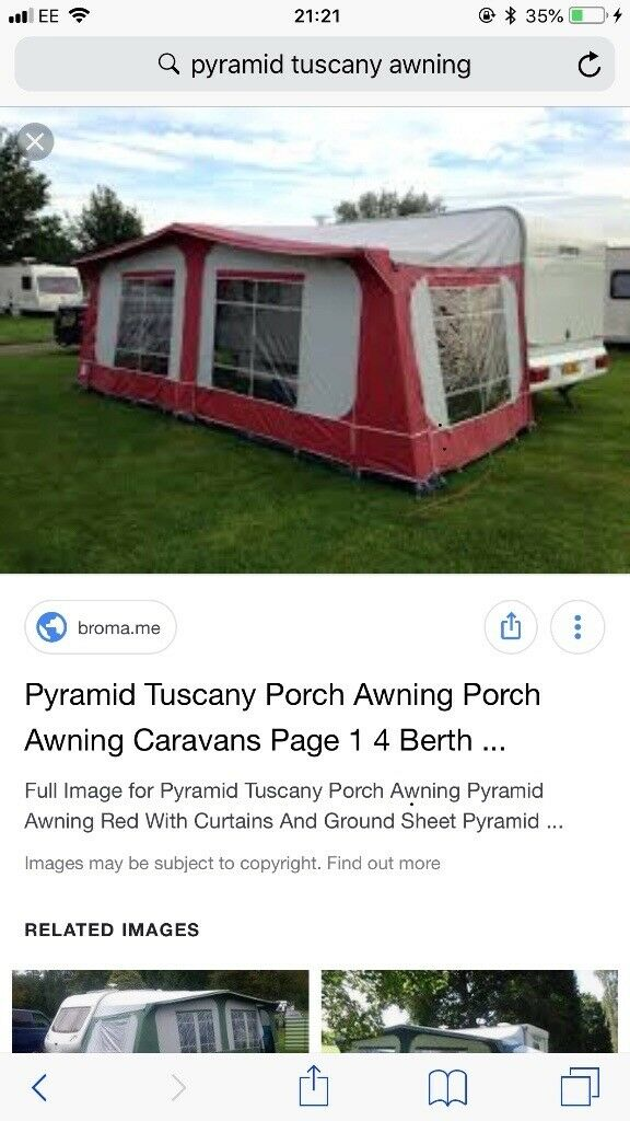Pyramid Tuscany awning | in Omagh, County Tyrone | Gumtree