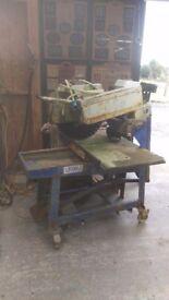 Large Stone / block / slab / tile petrol bench saw